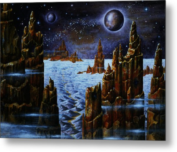 Ice And Snow  Planet  Metal Print