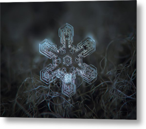 Snowflake Photo - Alioth Metal Print