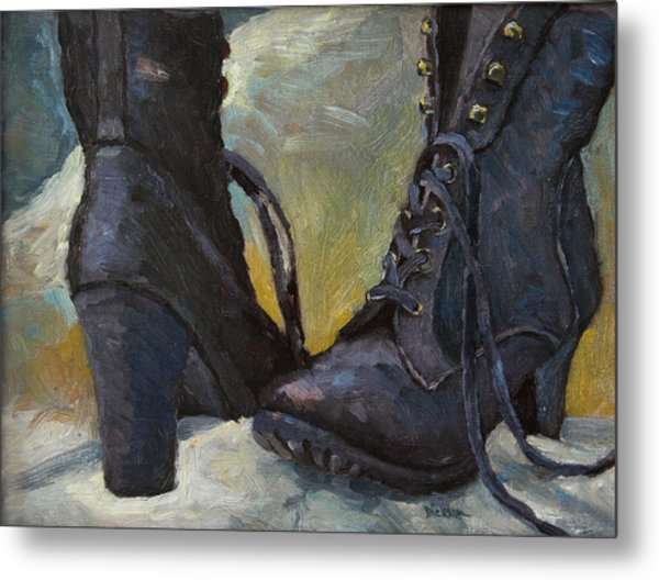 Ali's Boots Metal Print