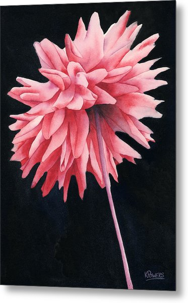 Metal Print featuring the painting Alizarin Dahlia by Ken Powers