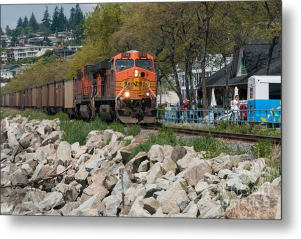 All Aboard Metal Print by Malu Couttolenc