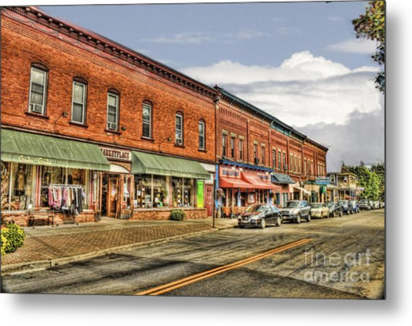 All Along Main Street Metal Print