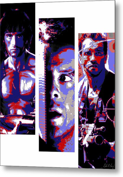 All-american 80's Action Movies Metal Print