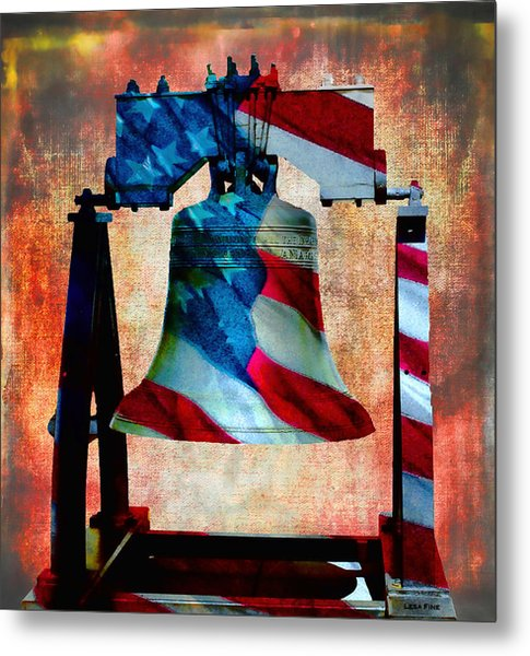 Liberty Bell Art Smooth All American Series Metal Print