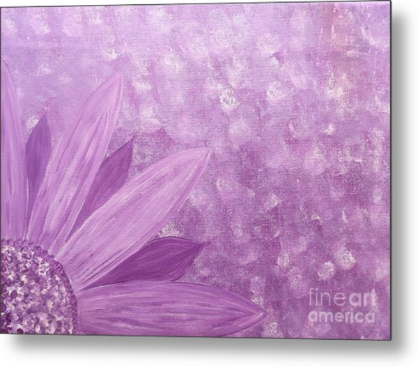 All Purple Flower Metal Print