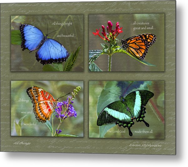 All Things Collage Metal Print