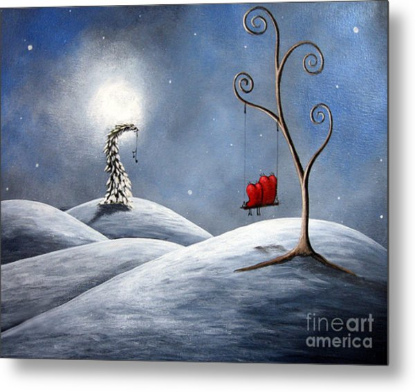 All We Need For Christmas By Shawna Erback Metal Print by Erback Art