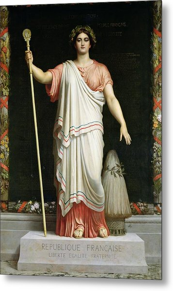Allegory Of The Republic, 1848 Oil On Canvas Metal Print