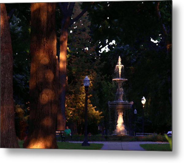 Allentown Pa Dusk At West Park Metal Print