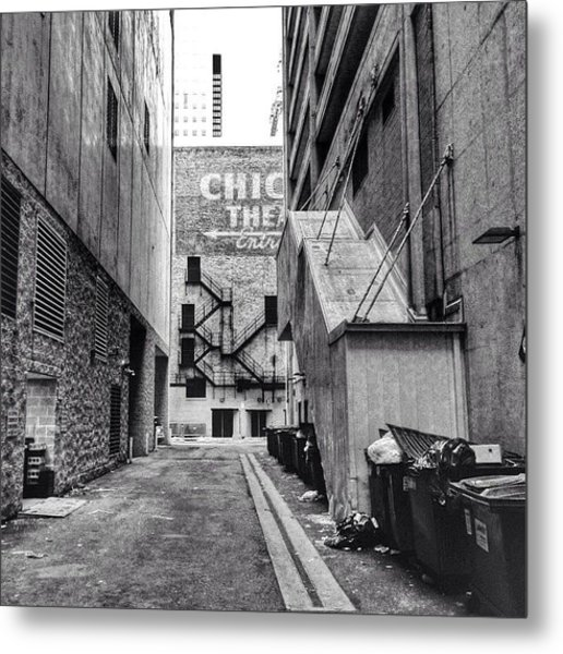 Alley By The Chicago Theatre #chicago Metal Print