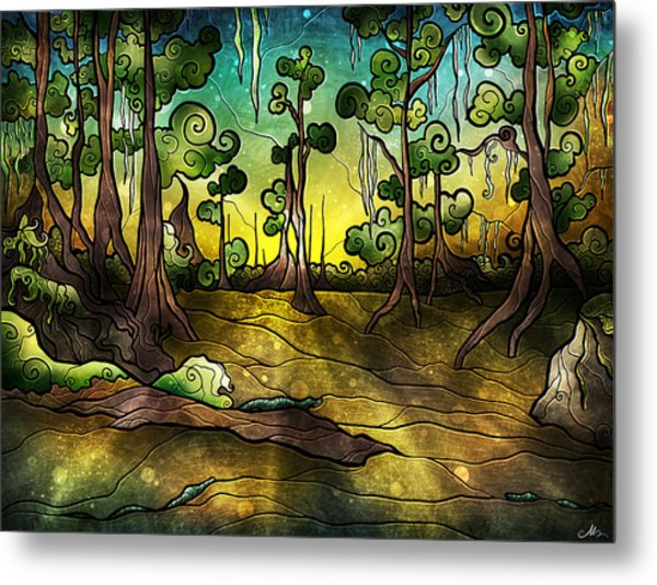 Alligator Swamp Metal Print