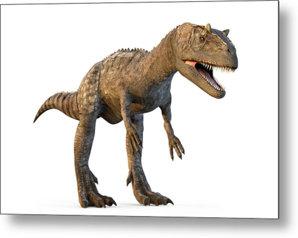 Allosaurus Dinosaur Metal Print by Roger Harris/science Photo Library