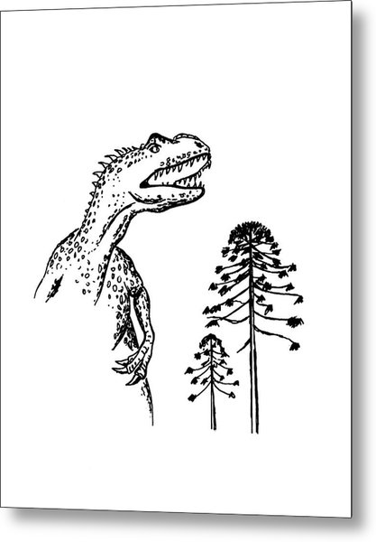 Allosaurus Metal Print by Richard Bizley