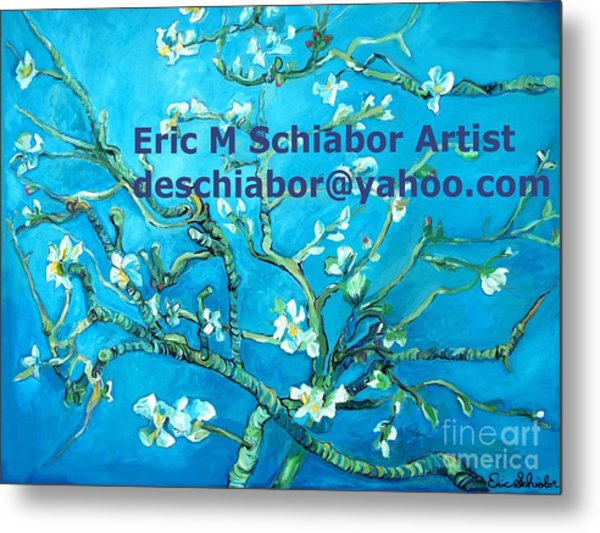 Almond Blossom Branches Metal Print