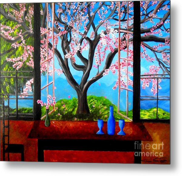 Almond With A View Metal Print