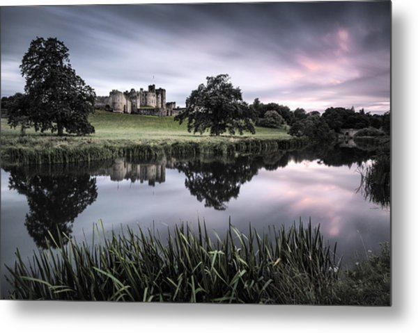 Alnwick Castle Sunset Metal Print