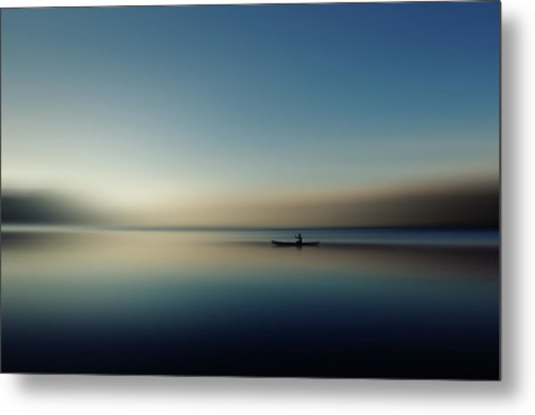 Alone In Somewhere Metal Print