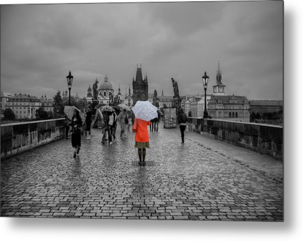 Alone In The Crowd Metal Print