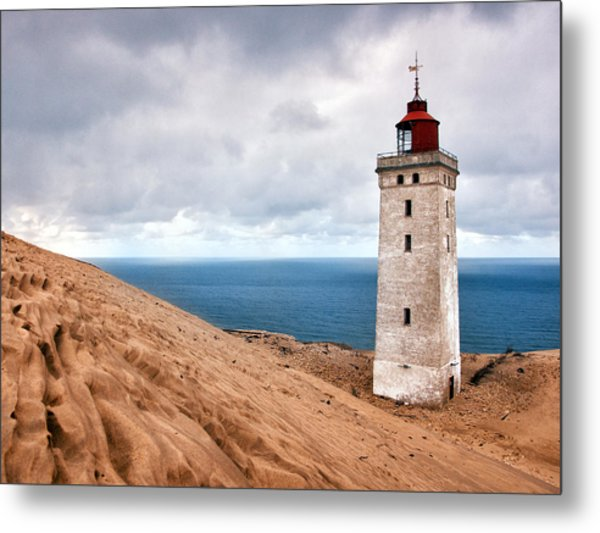 Lighthouse On The Sand Hils Metal Print