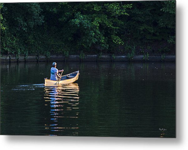 Alone On The Lake Metal Print by Barry Jones