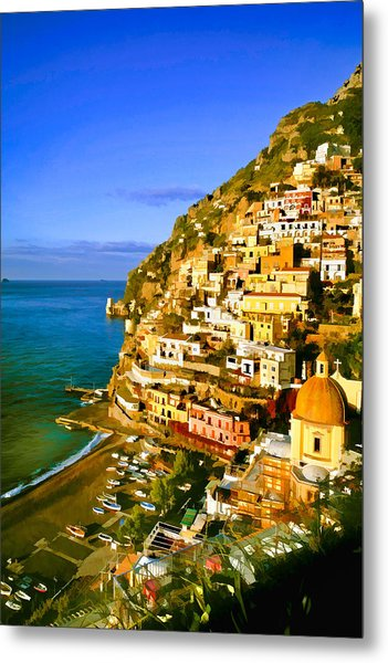Along The Amalfi Coast Metal Print