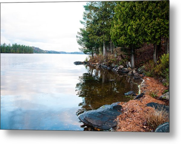 Along The Lakeshore  Metal Print