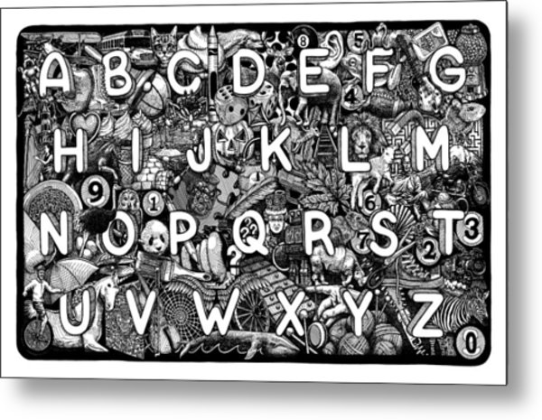 Alphabet Soup Metal Print