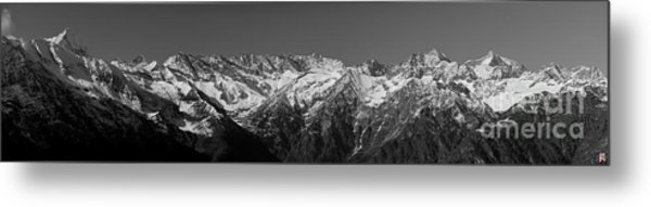 Alpine Peaks And Glaciers Metal Print by Marco Affini