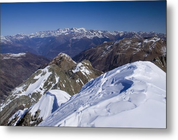 Alps Mountains View Metal Print by Ioan Panaite