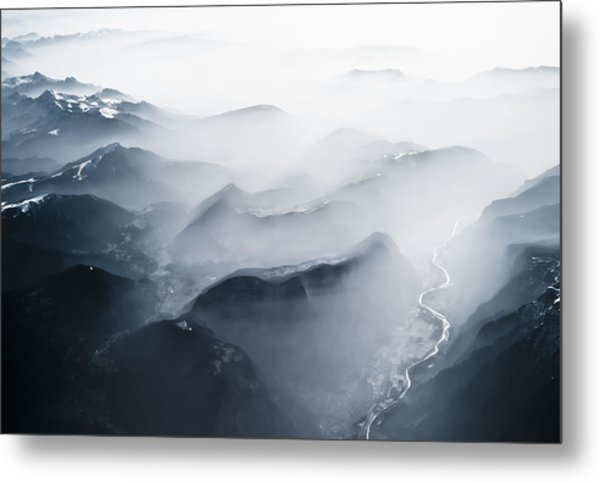 Alps Over Italy Metal Print by Chris Halford