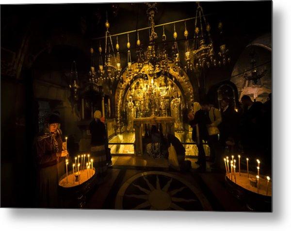 Altar Of The Crucifixion Metal Print