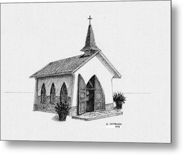 Alto Vista Chapel - Aruba Metal Print