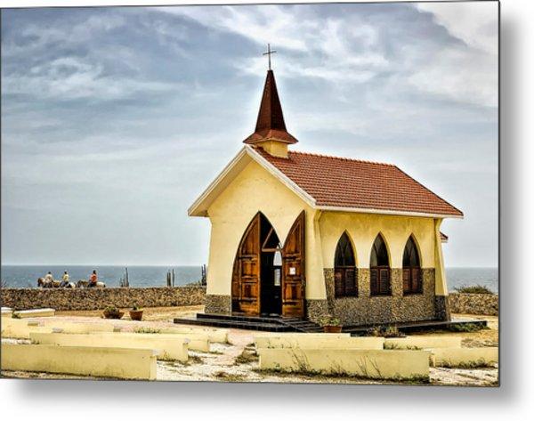 Alto Vista Chapel Aruba Metal Print