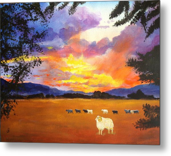 Alvin Counting Sheep Metal Print