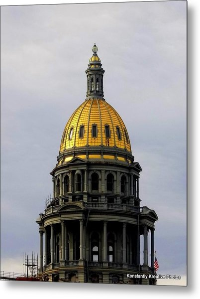 Always Gold At The Top Metal Print by Misty Herrick