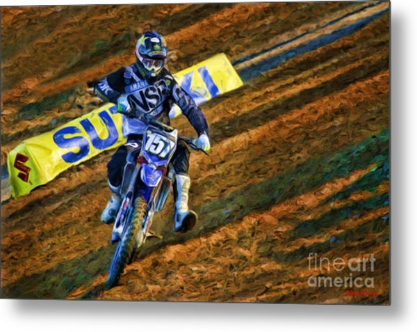 Ama 250sx Supercross Aaron Plessinger Metal Print