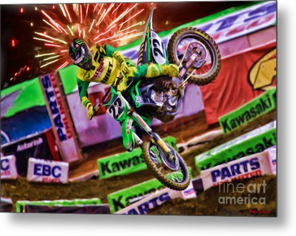 Ama 450sx Supercross Chad Reed Metal Print