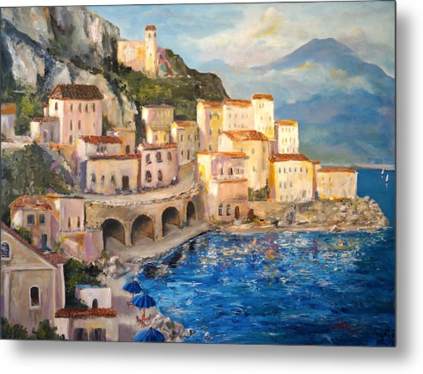 Amalfi Coast Highway Metal Print