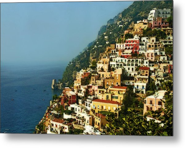 Amalfi Coast Hillside II Metal Print