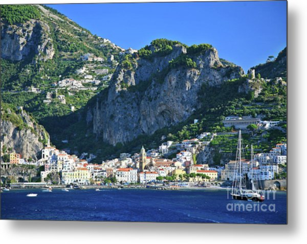 Famous Amalfi Village Metal Print