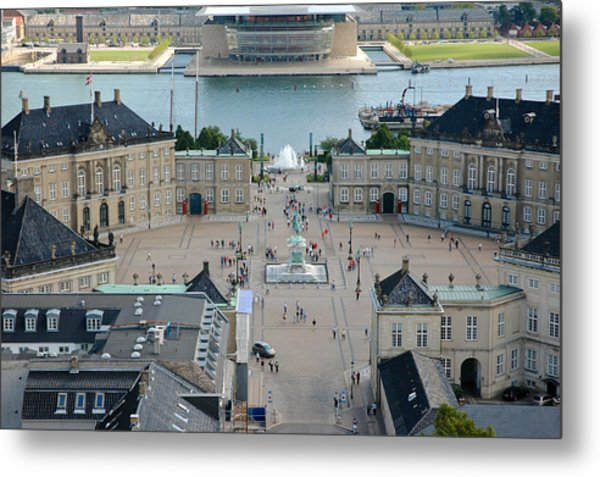 Metal Print featuring the photograph Amalienborg Palace Copenhagen by Mary Lee Dereske
