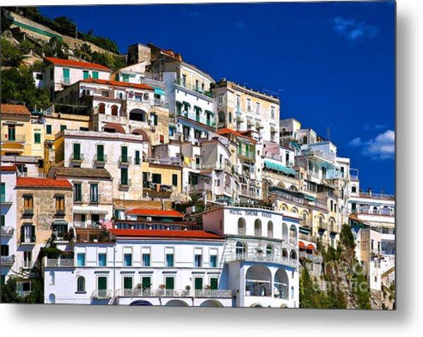 Amalfi Architecture Metal Print