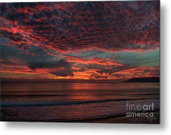 Amazing Blazing Sunset Metal Print