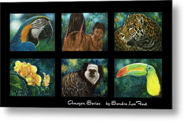 Amazon Series Collage Metal Print