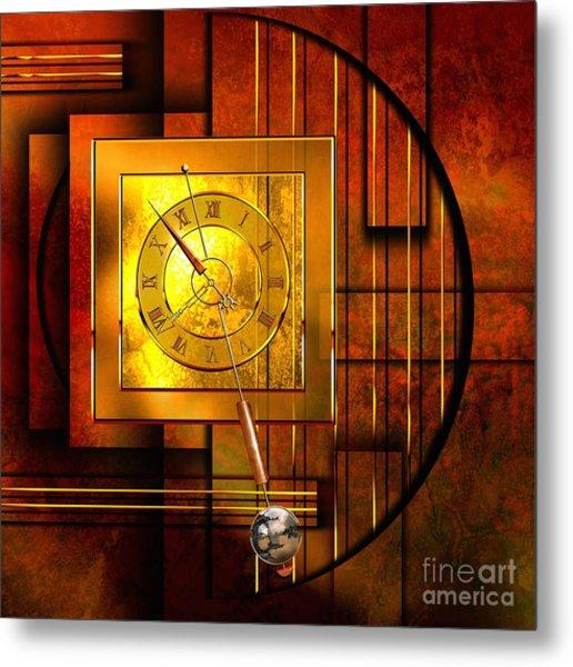 Amber Clock Metal Print