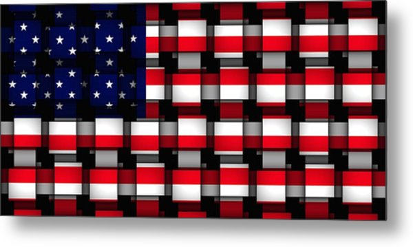 American Abstract Metal Print by L Brown