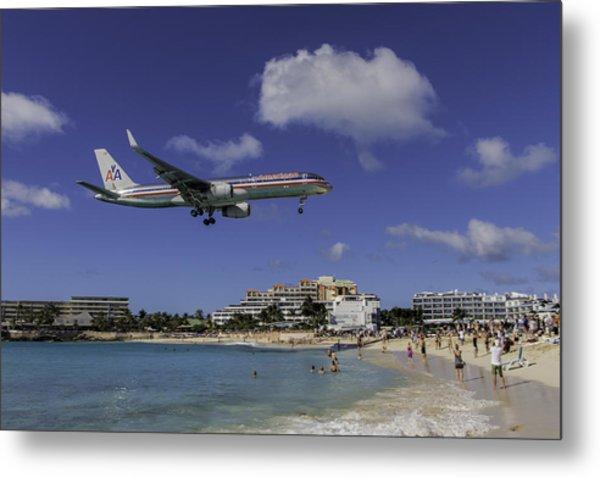 American Airlines At St. Maarten Metal Print