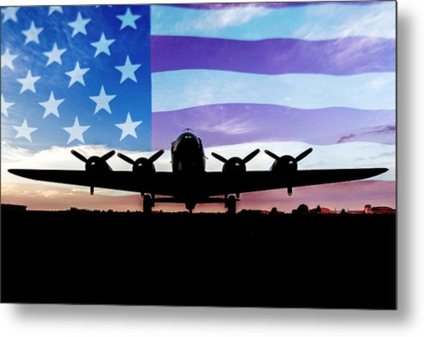 American B-17 Flying Fortress Metal Print