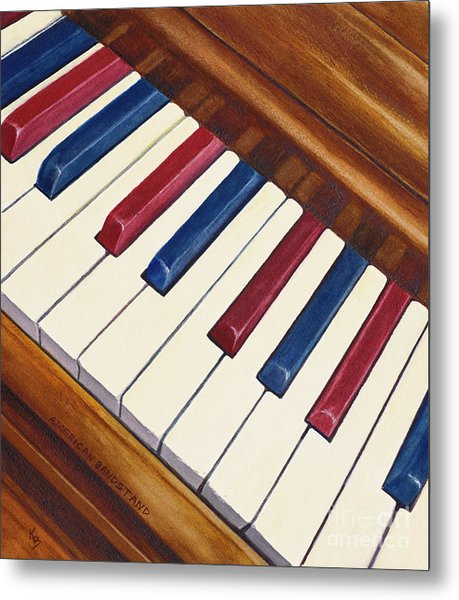 Metal Print featuring the painting American Bandstand by Karen Fleschler