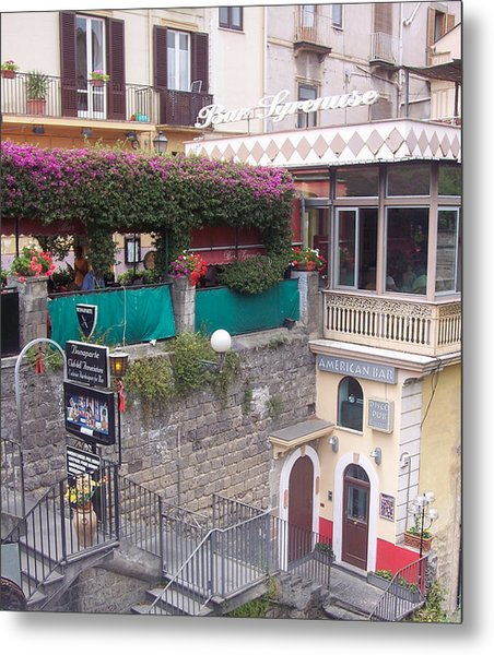 American Bar Sorrento Metal Print